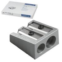 STAEDTLER 510 20 Точилка STAEDTLER (Германия), 2 отверстия, металлическая, клиновидная, 510 20