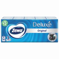 ZEWA 51174 Платки носовые ZEWA Delux, 3-х слойные, 10 шт. х (спайка 10 пачек), 51174