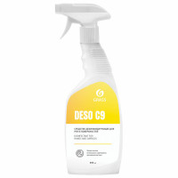 GRASS 550023 Антисептик для рук и поверхностей спиртосодержащий (70%) с распылителем 600 мл GRASS DESO C9, дезинфицирующий, жидкость, 550023