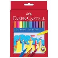 FABER-CASTELL 554212 Фломастеры FABER-CASTELL, 12 цветов, смываемые, картонная упаковка, европодвес, 554212