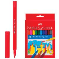 FABER-CASTELL 554224 Фломастеры FABER-CASTELL, 24 цвета, смываемые, картонная упаковка, европодвес, 554224