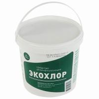 ЭКОХЛОР  Средство дезинфицирующее 1 кг ЭКОХЛОР, таблетки 300 шт.