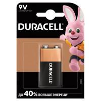 DURACELL  Батарейка DURACELL Basic, 6LR61 (КРОНА), Alkaline, 1 шт., в блистере, 9 В
