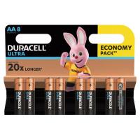 DURACELL  Батарейки КОМПЛЕКТ 8 шт., DURACELL Ultra Power, AA (LR06, 15А), алкалиновые, пальчиковые, блистер
