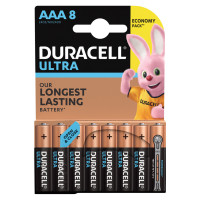DURACELL  Батарейки КОМПЛЕКТ 8 шт., DURACELL Ultra Power, AAA (LR03, 24А), алкалиновые, мизинчиковые, блистер