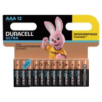 DURACELL  Батарейки КОМПЛЕКТ 12 шт., DURACELL Ultra Power, AAA (LR03, 24А), алкалиновые, мизинчиковые, блистер