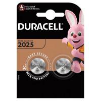 DURACELL  Батарейки DURACELL Lithium, CR2025, литиевые, КОМПЛЕКТ 2 шт, в блистере