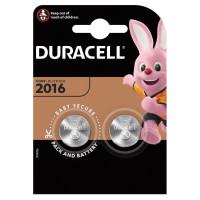 DURACELL  Батарейки DURACELL Lithium, CR2016, литиевые, КОМПЛЕКТ 2 шт, в блистере