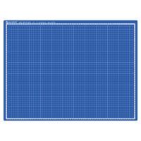 Brauberg  Коврик (мат) для резки BRAUBERG EXTRA 5-слойный, А2 (600х450 мм), двусторонний, толщина 3 мм, синий, 237176