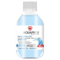 """AQUAPROF  Гель для рук антисептический спиртосодержащий (70%), 100 мл, AQUAPROF """"Свежесть океана"""""""