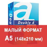 DOUBLE A  Бумага офисная DOUBLE A, МАЛОГО ФОРМАТА (148х210 мм), А5, 80 г/м2, 500 л., марка А+, ЭВКАЛИПТ, Таиланд, белизна 163%