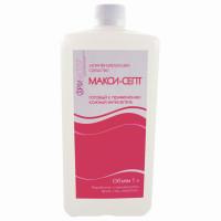 МАКСИ-СЕПТ  Антисептик кожный дезинфицирующий спиртосодержащий (60%) 1 л МАКСИ-СЕПТ, готовый раствор, крышка
