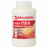 Brauberg 600983 Клей ПВА BRAUBERG, 1 кг, универсальный (бумага, картон, дерево), 600983
