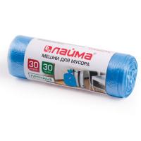 ЛАЙМА 601378 Мешки для мусора 30 л, синие, в рулоне 30 шт., ПНД, 10 мкм, 50х60 см (±5%), прочные, ЛАЙМА, 601378