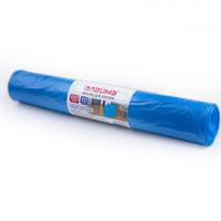 ЛАЙМА 601387 Мешки для мусора 120 л, синие, в рулоне 10 шт., ПВД, 40 мкм, 70х110 см (±5%), особо прочные, ЛАЙМА, 601387