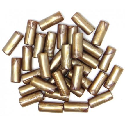 Бусы полимерные 10х25 мм, 10 шт/упак, карамельный