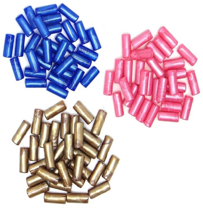 Бусы полимерные 10х25 мм, 250 г/упак (сиреневый)
