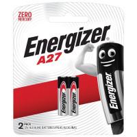 ENERGIZER 639333 Батарейки ENERGIZER, A27 (27А), алкалиновые, для сигнализаций, КОМПЛЕКТ 2 шт., в блистере, 639333