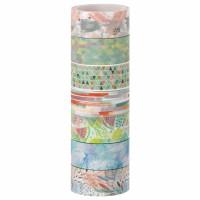 """ОСТРОВ СОКРОВИЩ 661709 Клейкие WASHI-ленты для декора """"Микс №1"""", 15 мм х 3 м, 7 цветов, рисовая бумага, ОСТРОВ СОКРОВИЩ, 661709"""