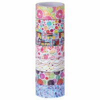 """ОСТРОВ СОКРОВИЩ 661710 Клейкие WASHI-ленты для декора """"Микс №2"""", 15 мм х 3 м, 7 цветов, рисовая бумага, ОСТРОВ СОКРОВИЩ, 661710"""