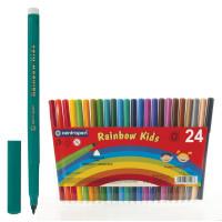 """CENTROPEN 7550/24 Фломастеры CENTROPEN """"Rainbow Kids"""", 24 цвета, смываемые, эргономичные, вентилируемый колпачок, 7550/24"""