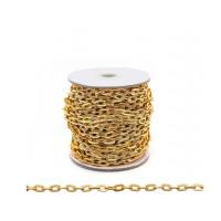 Прочие 7700953 Цепь алюминиевая К1711, 8.3 х 5.0, 50 см (золото)