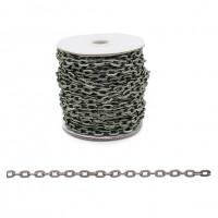 Прочие 7700953 Цепь алюминиевая К1711, 8.3 х 5.0, 50 см (черный никель)