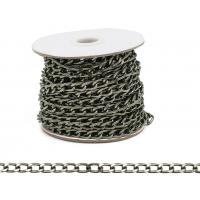 Прочие 7700956 Цепь алюминиевая К1516,  11,6  х 6,7мм  50 см (черный никель)