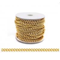 Прочие 7700957 Цепь алюминиевая К18602, 5,8 х 4,5мм  50 см. (золото)