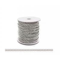 Прочие 7700957 Цепь алюминиевая К18602, 5,8 х 4,5мм  50 см. (никель)