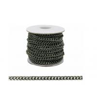 Прочие 7700958 Цепь алюминиевая К18601, 5,4 х 4,4мм  50 см. (черный никель)