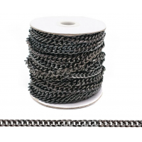 Прочие 7700962 Цепь стальная Y1827, 6.2 х 4.8мм  50 см (черный никель)