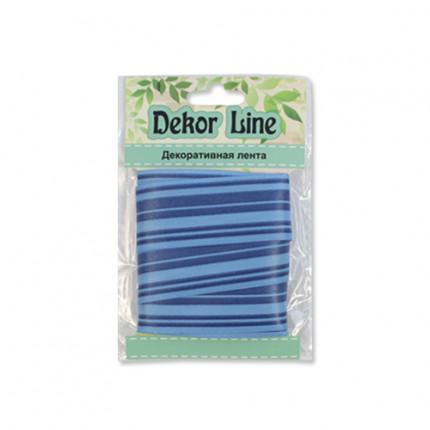 Лента атласная 'Горизонталь', 25мм*3м синий (арт. 7710563)