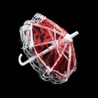 Прочие 7728176 Зонтик кружевной AR759 17*18см цв.красный