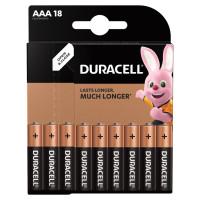 DURACELL 81483686 Батарейки КОМПЛЕКТ 18 шт., DURACELL Basic, AAA (LR03, 24А), алкалиновые, мизинчиковые, блистер, 81483686