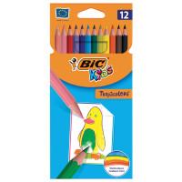 """BIC 8325666 Карандаши цветные BIC """"Tropicolors"""", 12 цветов, пластиковые, заточенные, европодвес, 8325666"""