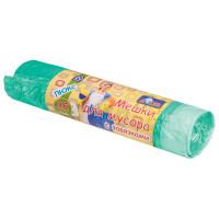 YORK 902020 Мешки для мусора 35 л, завязки, зеленые, в рулоне 20 шт., ПНД, 13 мкм, 50х56 см, YORK AZUR, 902020