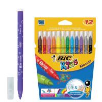 """BIC 9202932 Фломастеры BIC """"Kid Couleur"""", 12 цветов, суперсмываемые, вентилируемый колпачок, европодвес, 9202932"""