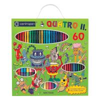 "CENTROPEN 9396/60 Фломастеры CENTROPEN ""Quatroll"", набор 60 предметов, 44 фломастера + 12 карандашей + 4 раскраски, 9396/60"
