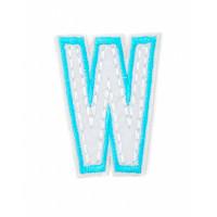 Прочие АДЕ-573-11-12569.004 Аппликация термо буквы голубой