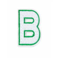 Прочие АДЕ-573-2-12569.006 Аппликация термо буквы зеленый
