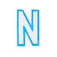 Прочие АДЕ-573-3-12569.010 Аппликация термо буквы голубой