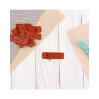 Прочие АПД-56-1-38667 Нашивка «Hand made» р.1,5х5 см коричневый