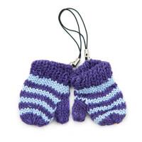 Прочие АРС-32924-1-АРС0001240034 Варежки вязаные в полоску 5см AR1198  (фиолетовые/голубые) фиолетовые/голубые