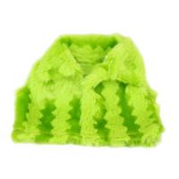 Прочие АРС-6500-1-АРС0001119066 Жилетка для куклы меховая (зеленая) зеленая