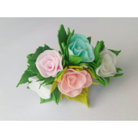 """Прочие АСР-01 Ревелюровые цветы """"FomFantasy"""" АСР-01 розы (1,5 * 1,5 см),  цв.ассорти"""