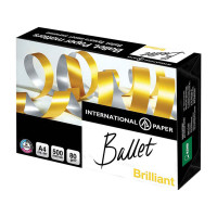 BALLET BALBR080X501 Бумага офисная BALLET BRILLIANT, А4, 80 г/м2, 500 л., марка А, ColorLok, International Paper, белизна 168%, BALBR080X501