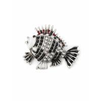 Прочие БББ-154-1-32594.001 Брошь р.3,6х4,4 см серебристый
