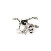 Прочие БББ-215-1-34809.002 Брошь р.3,5х4,5 см черно-белый