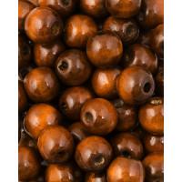 Прочие БДЕ-93-1-36769.001 Бусы дерево р.1,7х1,8 см коричневый 10 шт.